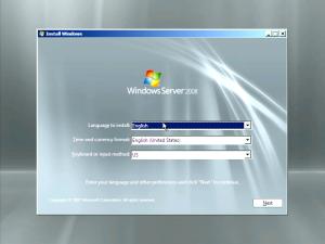 Windows Server 2008 install